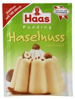 Haas Pudding Haselnuß-Geschmack 111g
