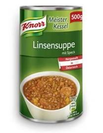 Knorr Meisterkessel Linsensuppe mit Speck 500g