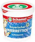 Schamel Bayerischer Meerrettich Alpensahne 2000g