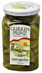 Gurkenprinz Chili Gewürzgurken scharf 185g