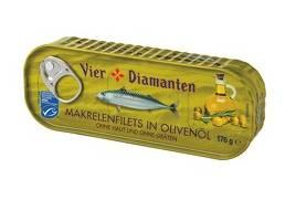4-Diamanten Makrelen in Olivenöl MSC 176 g