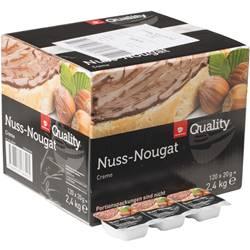 Quality Nuss Nougat Creme Portion 120 x 20 g