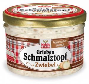 Mehlig's Grieben Schmalztopf Zwiebel 160g